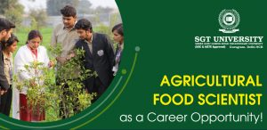 Agricultural Food Scientist as a Career Opportunity!