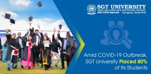 Amid COVID-19 Outbreak, SGT University Placed 80% of Its Students