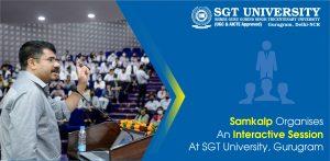 Samkalp Organises An Interactive Session At SGT University, Gurugram